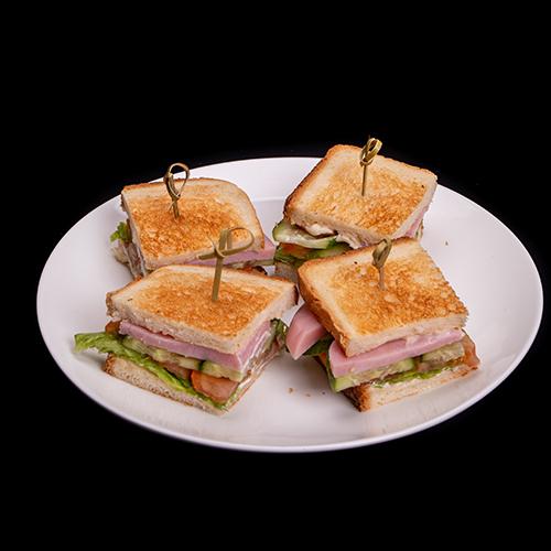 Мини сендвич с ветчиной